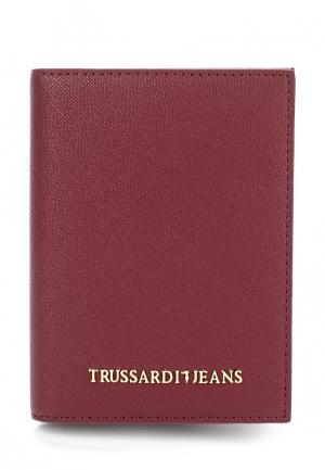 Обложка для документов Trussardi Jeans. Цвет: бордовый