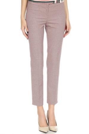 Укороченные брюки с застежкой на молнию YARMINA. Цвет: красный, синий