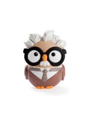 Керамическая статуэтка сова Альберт Эйнштейн, Goofi. Цвет: белый