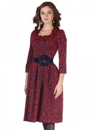 Платье Olivegrey. Цвет: бордовый