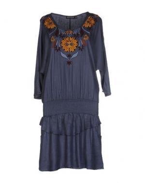 Короткое платье ANTIK BATIK. Цвет: грифельно-синий