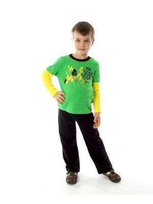 Комплект одежды Апрель. Цвет: зеленый, черный