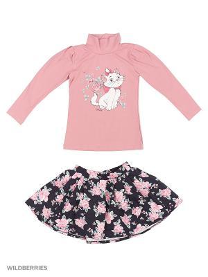 Комплект Джемпер и Юбка ИП Комарова Е. П.. Цвет: черный, розовый