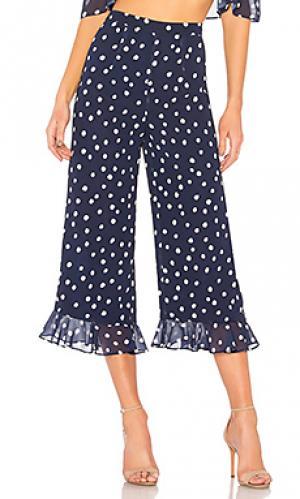Брюки с высоким поясом high waist pant LPA. Цвет: синий