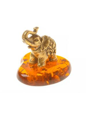 Фигура Слоник Тайский Aztek. Цвет: желтый, коричневый, светло-оранжевый