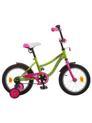 Велосипед 14 NEPTUNE NOVATRACK. Цвет: салатовый