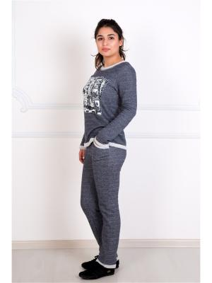 Костюм (кофта,штаны) Lika Dress. Цвет: серый