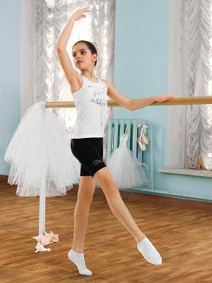 Майка-борцовка для девочек Arina Ballerina. Цвет: белый