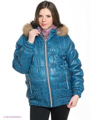 Куртка EUROMAMA. Цвет: бирюзовый