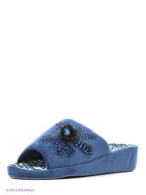 Тапочки Effa. Цвет: синий