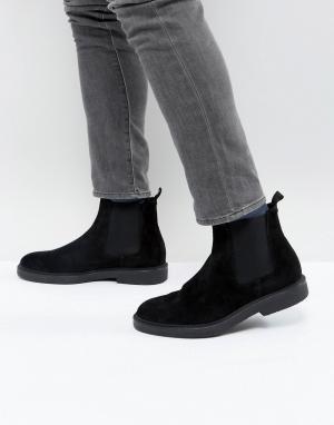 Zign Замшевые ботинки челси на массивной подошве. Цвет: черный