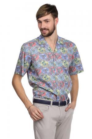 Рубашка с коротким рукавом Just Valeri. Цвет: разноцветный
