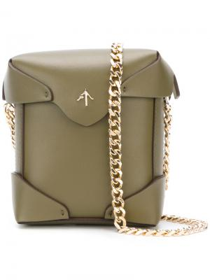 Small crossbody bag Manu Atelier. Цвет: зелёный