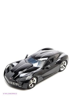 Модель автомобиля 2009 Corvette Stingray Concept - Glossy Black 1:18 Jada. Цвет: черный