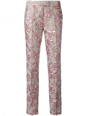 Прямые брюки Christian Pellizzari. Цвет: телесный