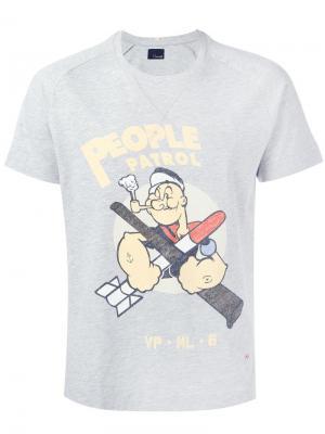 Popeye print T-shirt +People. Цвет: серый