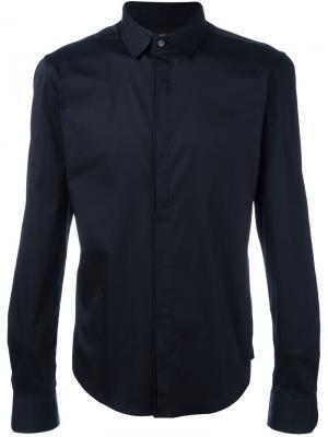 Классическая рубашка Wooyoungmi. Цвет: синий