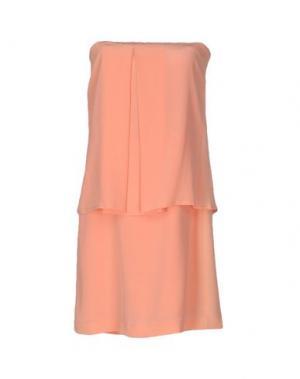 Короткое платье ALYSI. Цвет: лососево-розовый
