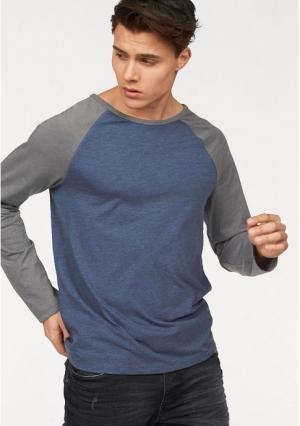 Футболка с длинными рукавами JOHN DEVIN. Цвет: джинсовый синий/темно-серый, молочно-белый/темно-серый, темно-серый/графитный