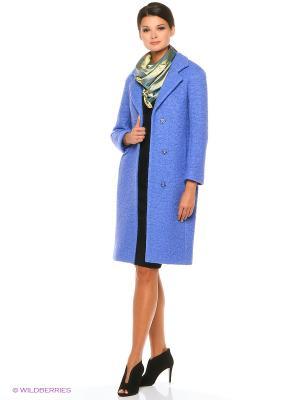 Пальто Cocon Sky Katya Erokhina. Цвет: голубой