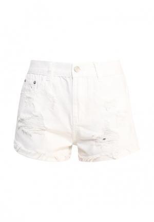 Шорты джинсовые Brigitte Bardot. Цвет: белый