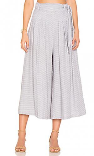 Укороченные широкие брюки Mara Hoffman. Цвет: серый