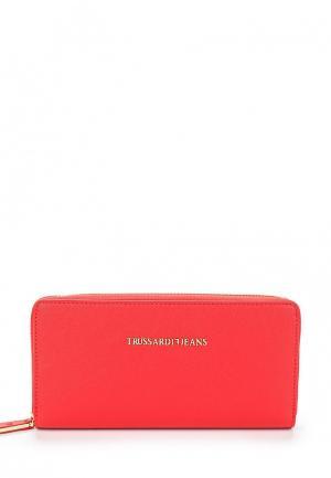 Кошелек Trussardi Jeans. Цвет: красный