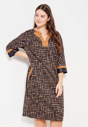 Платье Intikoma. Цвет: коричневый