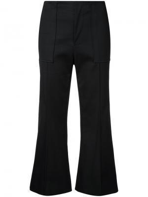 Укороченные брюки клеш Bassike. Цвет: чёрный