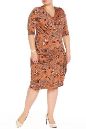Платье Amazone. Цвет: оранжевый, красный