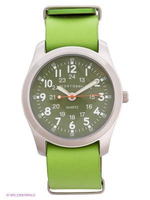 Часы TOKYObay. Цвет: светло-зеленый