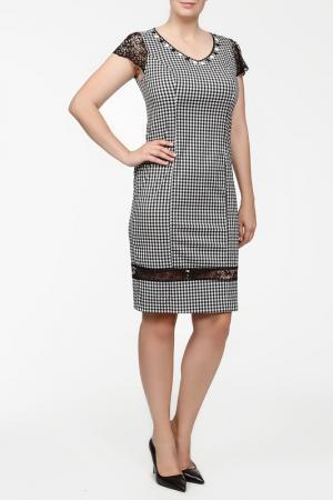 Платье Elisa Fanti. Цвет: черно-белый