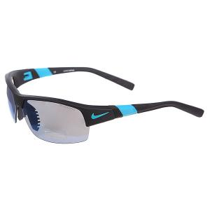 Очки  Show X2 R Grey W/Sky Blue Flash/Clear Lens Matte Black/Turbo Green Nike Optics. Цвет: черный,голубой