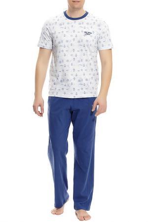 Пижама с брюками тройка Relax Mode. Цвет: фиолетовый
