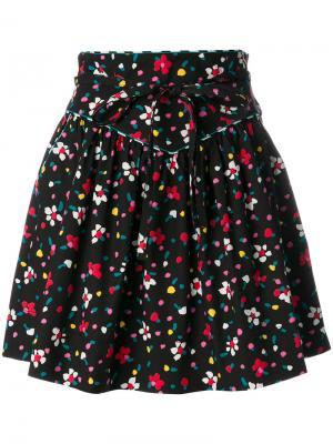 Юбка с узором в виде нарисованных цветов Marc Jacobs. Цвет: чёрный