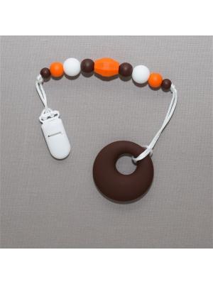 Игрушка-подвеска Краски лета. Цвет: темно-коричневый, белый, оранжевый
