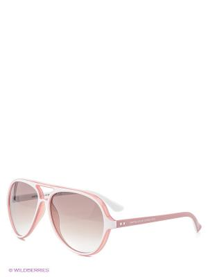 Солнцезащитные очки BB 508S R4 United Colors of Benetton. Цвет: розовый, белый