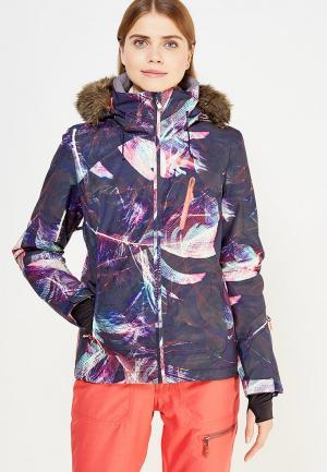 Куртка горнолыжная Roxy. Цвет: разноцветный