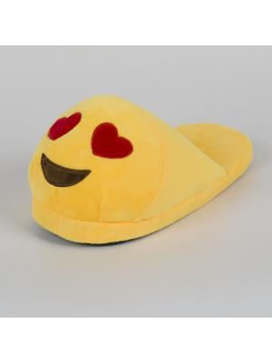 Тапки-смайлики Люблю открытые SOXshop. Цвет: желтый
