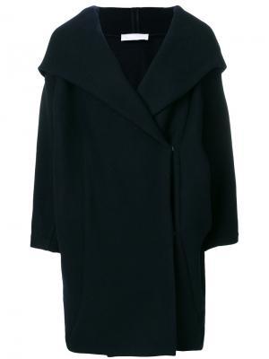 Пальто с капюшоном Xiong Reality Studio. Цвет: синий