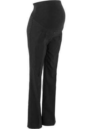 Широкие брюки из бенгалина для беременных, cредний рост (N) (черный) bonprix. Цвет: черный
