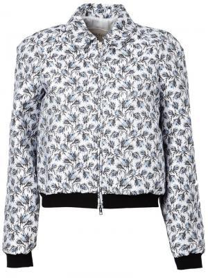 Жаккардовая куртка-бомбер Giambattista Valli. Цвет: чёрный