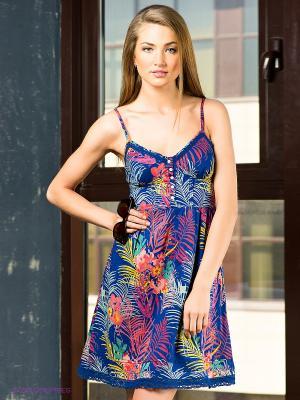 Платье FOX. Цвет: темно-синий