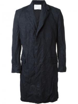 Пальто с потайной застежкой Matthew Miller. Цвет: синий