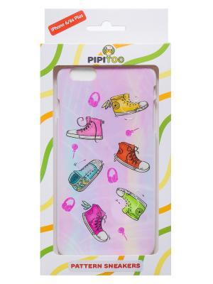 Чехол-накладка Sneakers для iPhone 6/6s Plus Pipitoo. Цвет: розовый