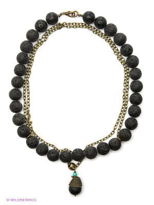 Ожерелье Polina Selezneva. Цвет: черный