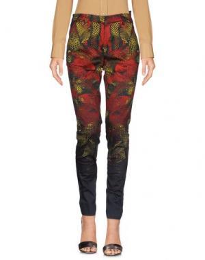 Повседневные брюки MARCELO BURLON. Цвет: красный