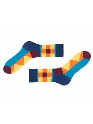 Носки Sammy Icon. Цвет: синий, коричневый, желтый