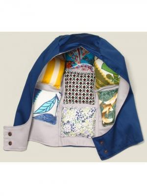 Капюшон с подушками Бюро находок. Цвет: синий