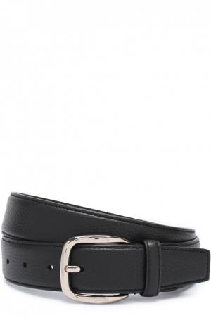 Кожаный ремень с металлической пряжкой A. Testoni. Цвет: черный